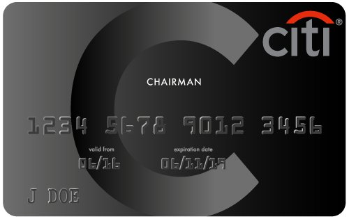 The Citigroup Black Chairman Card